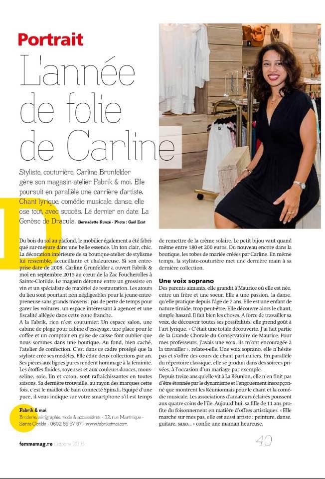 Revue de Presse : Femme Magazine post thumbnail image
