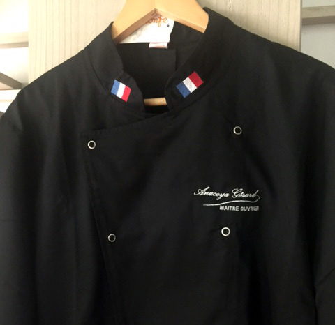 Broderie Sur Mesure FabrikMoi Mode Et Accessoires Ile De La - Broderie veste de cuisine